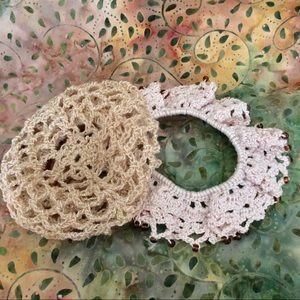 Crochet Hair Scrunchy and Bun Cover